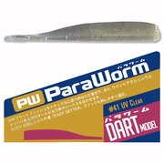 Major Craft ParaWorm - Dart 3.0 inch - #41 UV Clear
